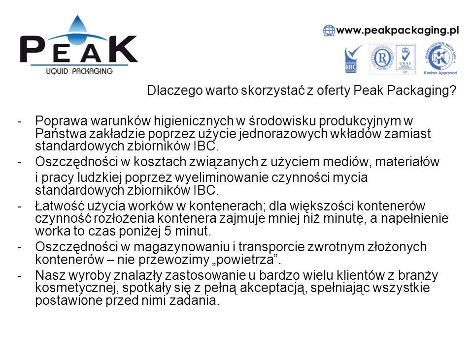 Dlaczego warto skorzystać z oferty Peak Packaging? -Poprawa warunków higienicznych w środowisku produkcyjnym w Państwa zakładzie poprzez użycie jednor