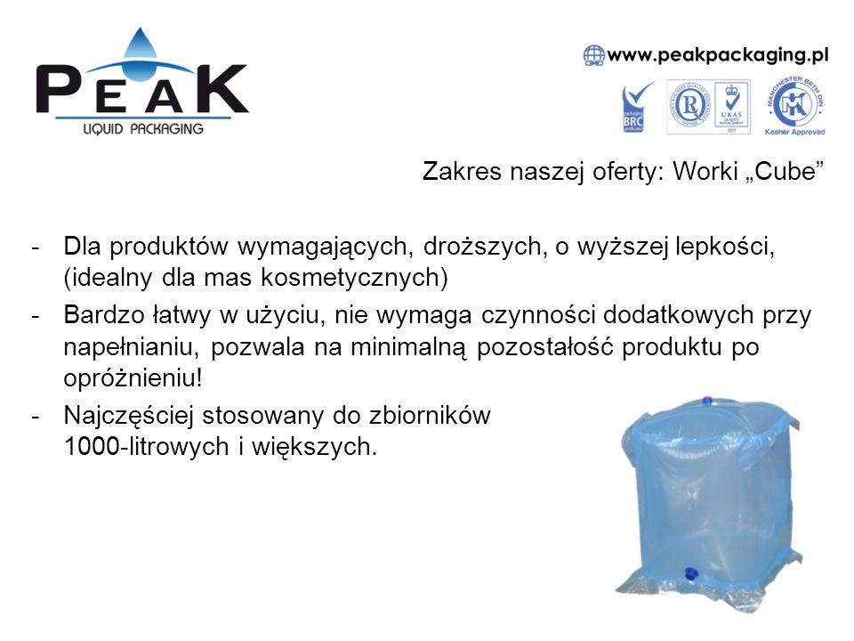 """Zakres naszej oferty: Worki """"Pillow -Standardowo stosowany w przemyśle worek, ekonomiczny, spełniający normy spożywcze, kosmetyczne i farmaceutyczne."""