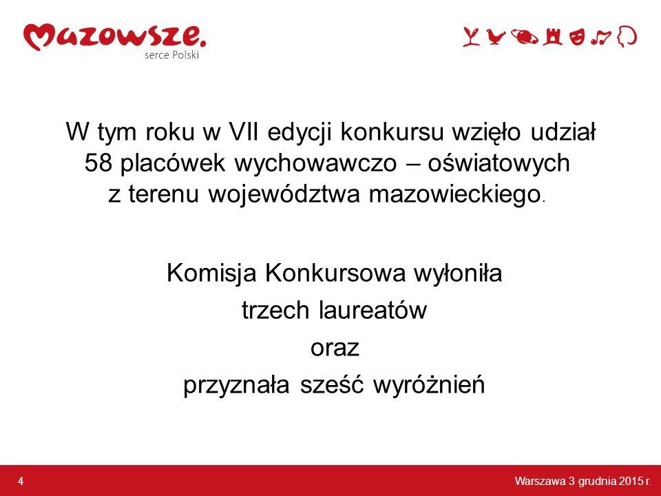 Warszawa 3 grudnia 2015 r.