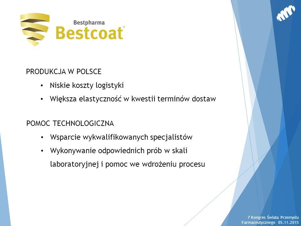 PRODUKCJA W POLSCE Niskie koszty logistyki Większa elastyczność w kwestii terminów dostaw POMOC TECHNOLOGICZNA Wsparcie wykwalifikowanych specjalistów