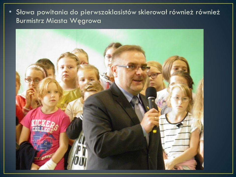 Słowa powitania do pierwszoklasistów skierował również również Burmistrz Miasta Węgrowa