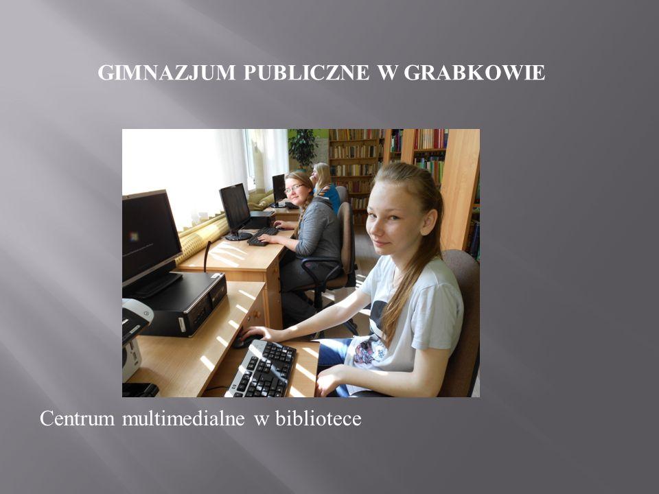GIMNAZJUM PUBLICZNE W GRABKOWIE czytelnia i biblioteka szkolna