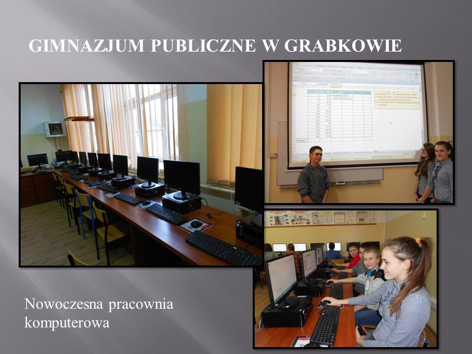 GIMNAZJUM PUBLICZNE W GRABKOWIE Nasza szkoła dysponuje nowoczesną i bardzo dobrze zaopatrzoną bazą dydaktyczną.