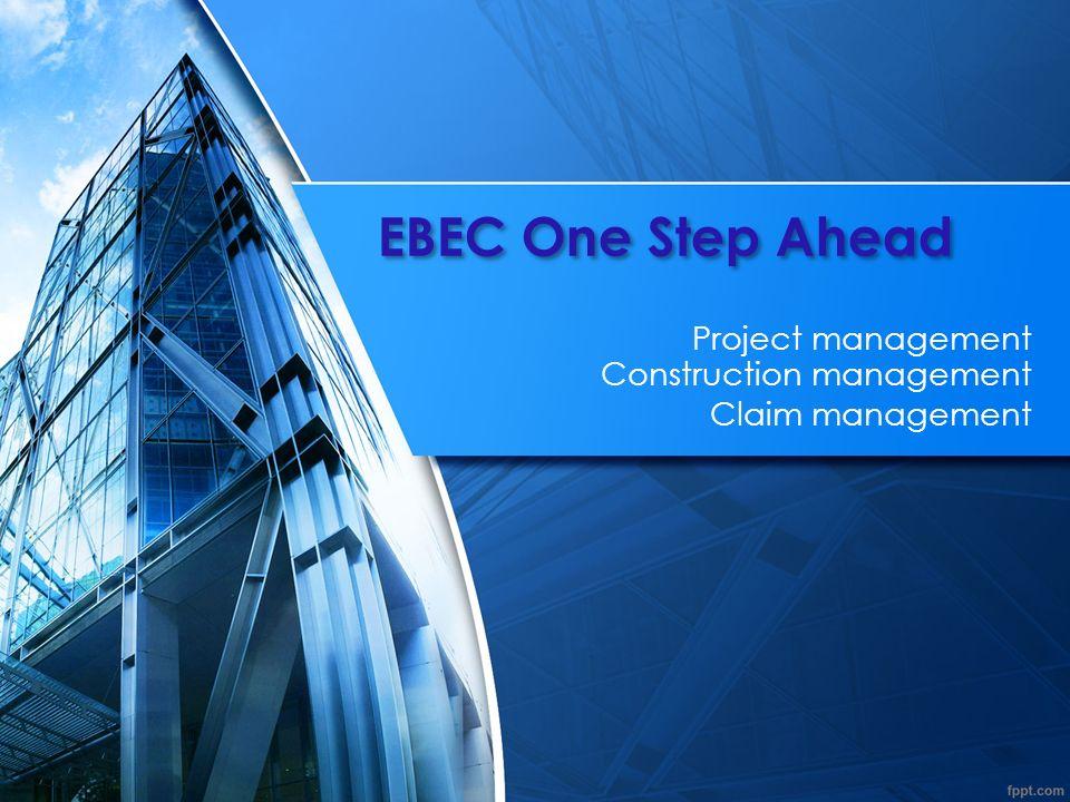 EBEC One Step Ahead12 Budownictwo w ochronie środowiska - pozostałe projekty: 2015 Sprawowanie przeglądów rocznych i pięcioletnich nad około 60 sztukami Turbin wiatrowych dla E.ON Energie Odnawialne Sp.