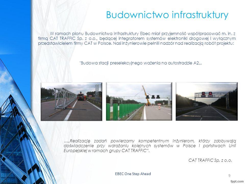EBEC One Step Ahead 10 Budownictwo infrastruktury,Wielokrotnie mieliśmy również przyjemność współpracować z firmą Aldesa Construcciones Polska Sp.