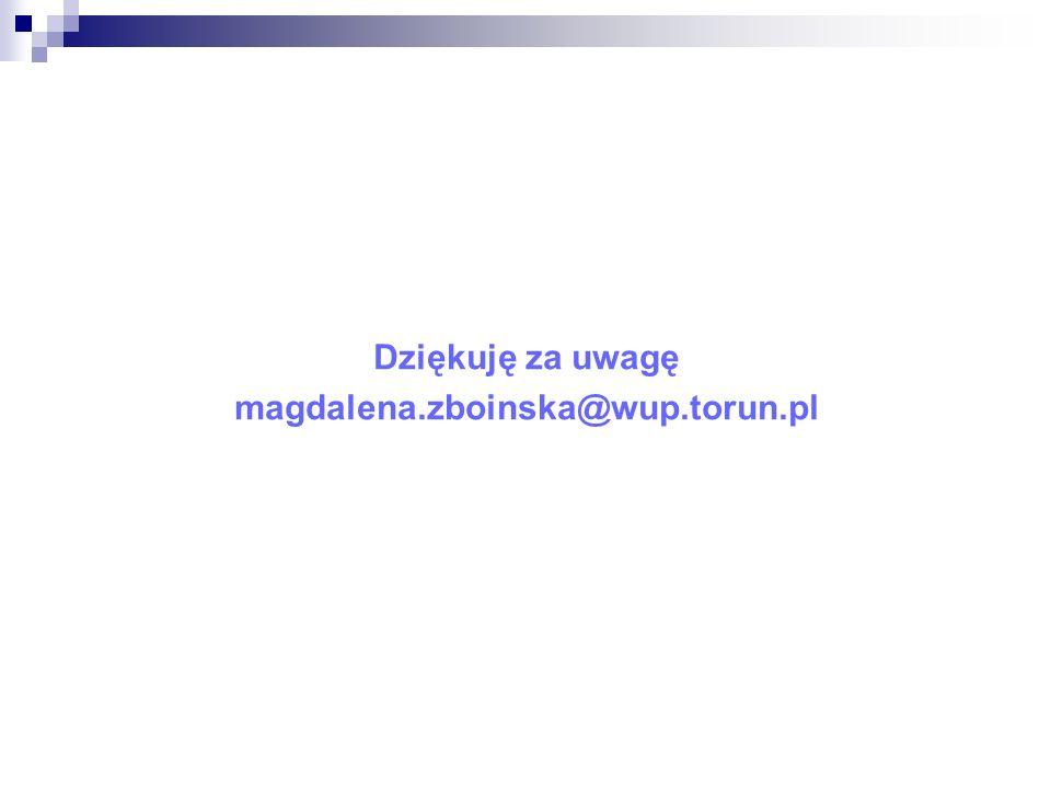Dziękuję za uwagę magdalena.zboinska@wup.torun.pl