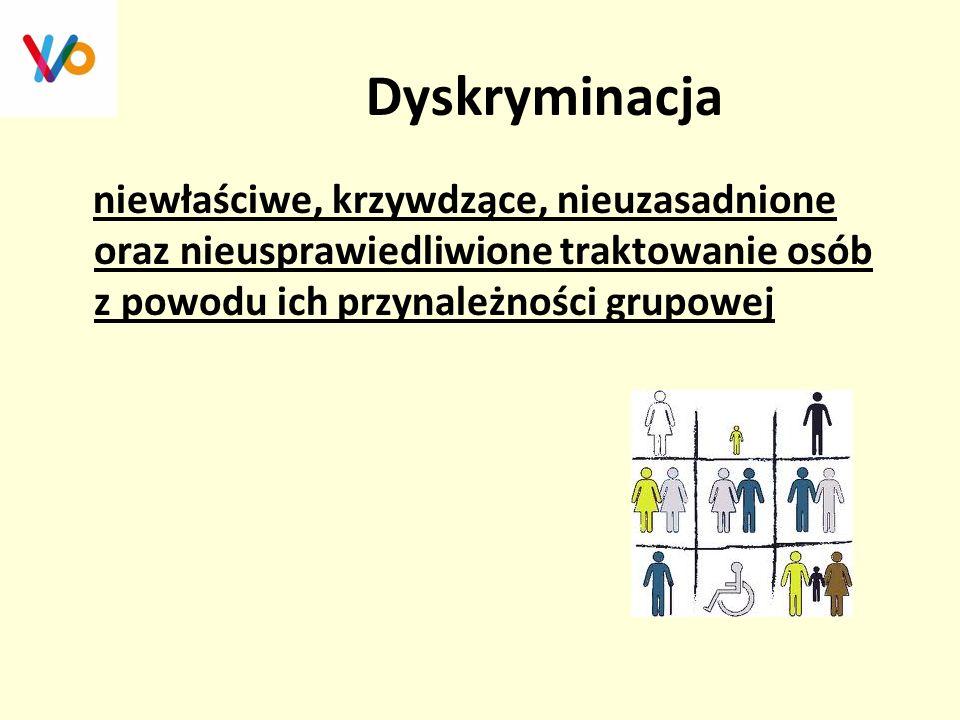 Przesłanki dyskryminacji  Przesłanki dyskryminacji to cechy leżące u podstaw bądź będące przyczyną nierównego traktowania i dyskryminacji.