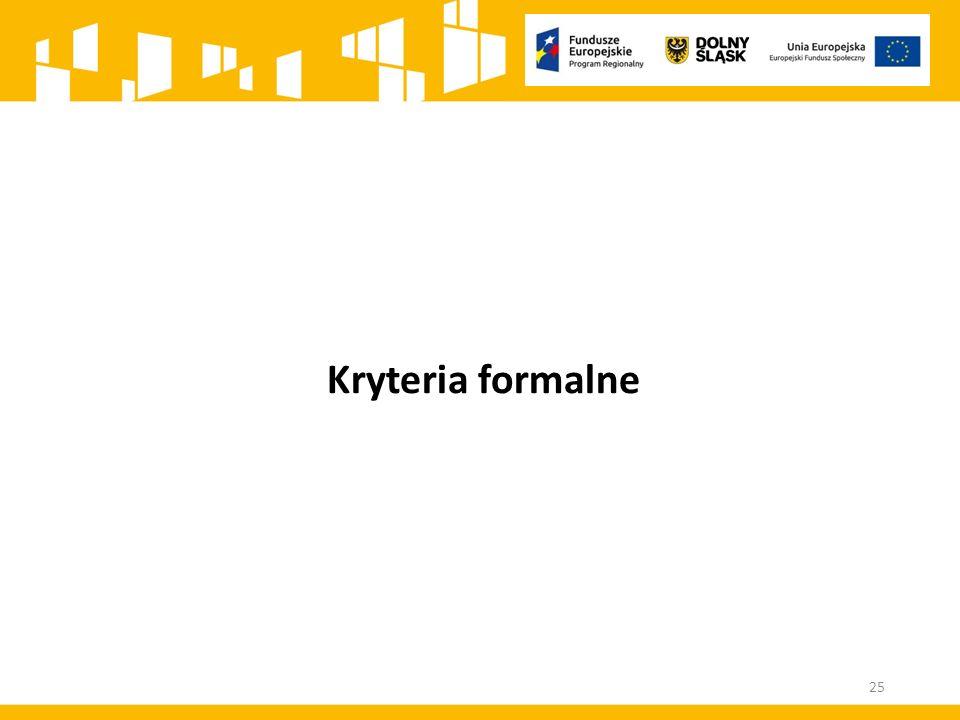 Kryteria formalne 25
