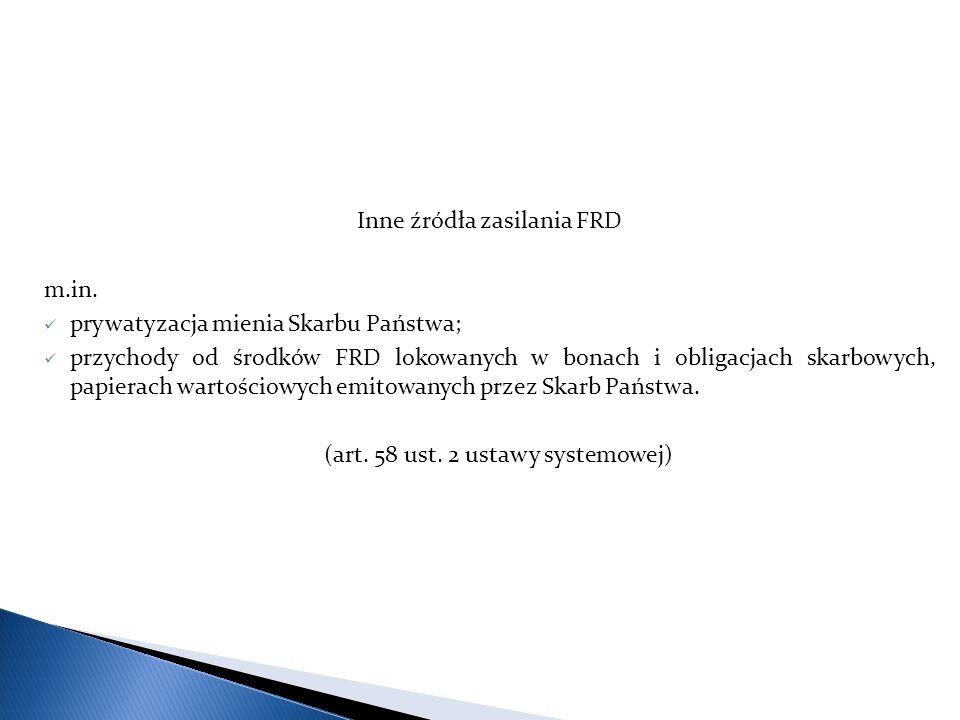 Inne źródła zasilania FRD m.in.