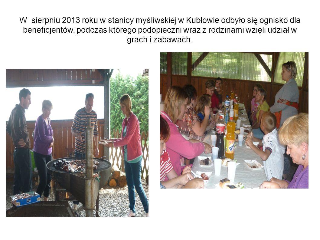 W sierpniu 2013 roku w stanicy myśliwskiej w Kubłowie odbyło się ognisko dla beneficjentów, podczas którego podopieczni wraz z rodzinami wzięli udział w grach i zabawach.