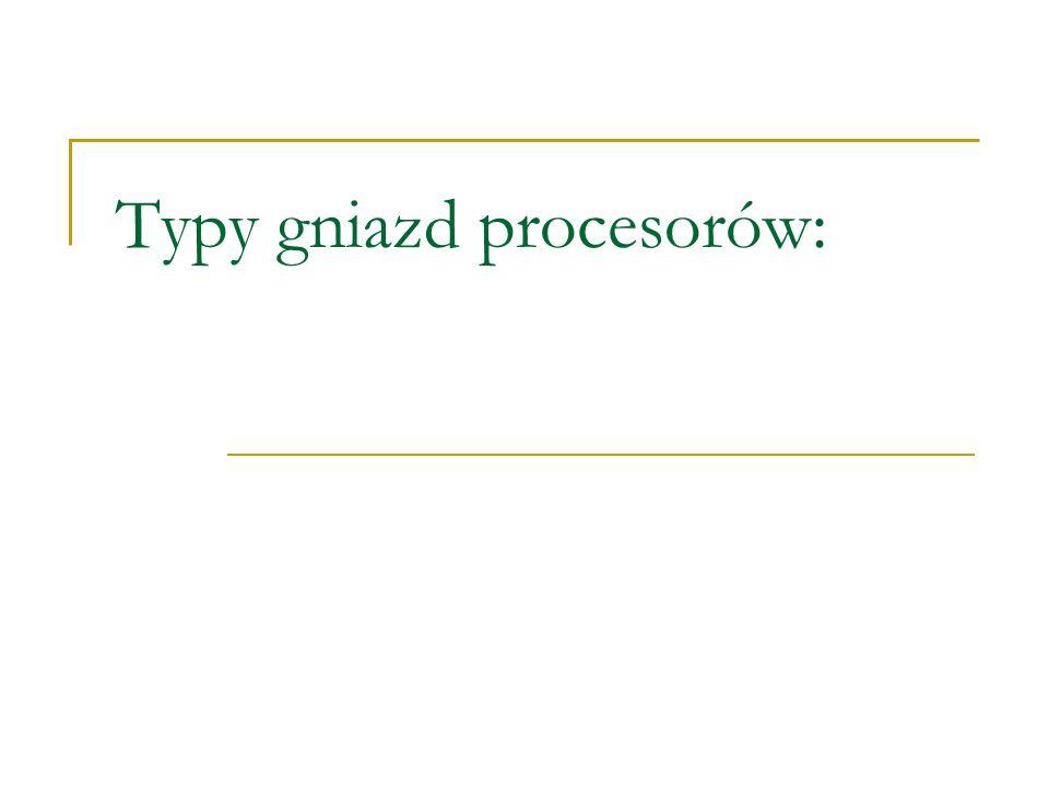 Typy gniazd procesorów: