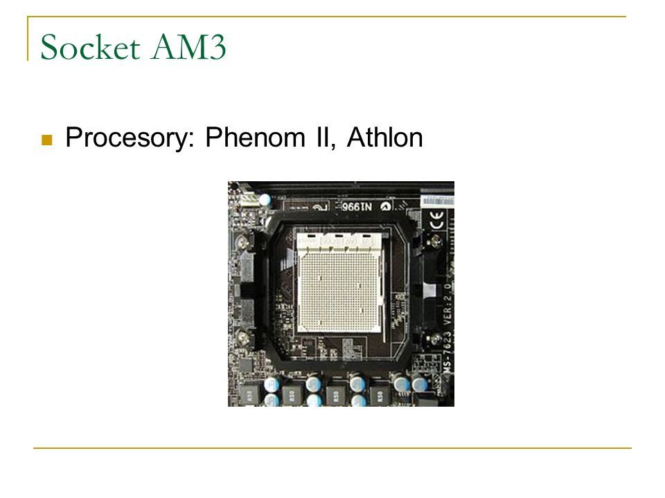 Socket AM3 Procesory: Phenom II, Athlon