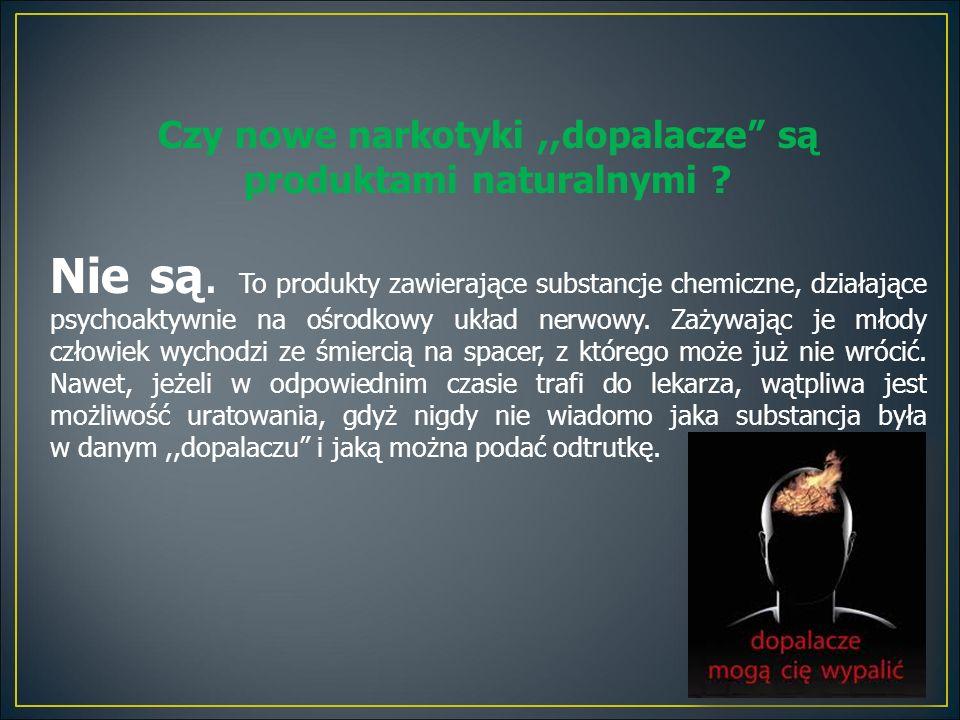 Czy nowe narkotyki,,dopalacze są produktami naturalnymi .