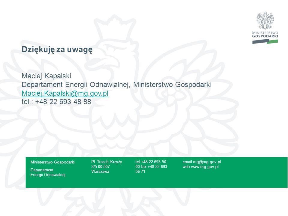 16Prezentacja - Curabitur fermentum, leo eget auctor porta Dziękuję za uwagę Maciej Kapalski Departament Energii Odnawialnej, Ministerstwo Gospodarki