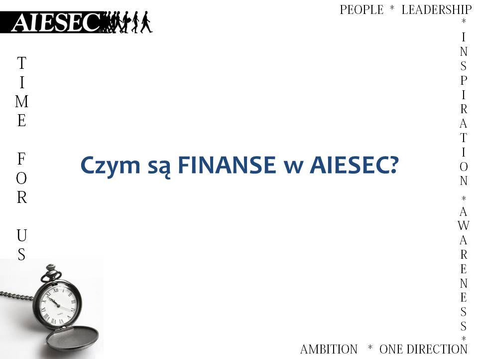 Czym są FINANSE w AIESEC