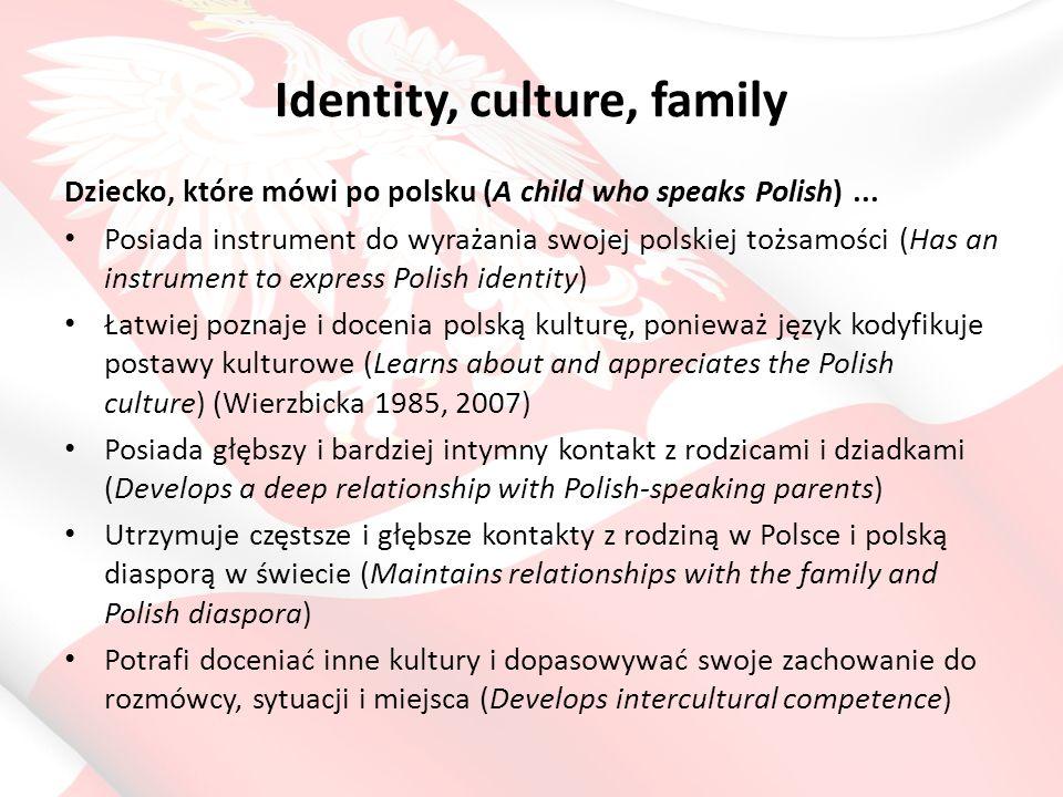 Identity, culture, family Dziecko, które mówi po polsku (A child who speaks Polish)...