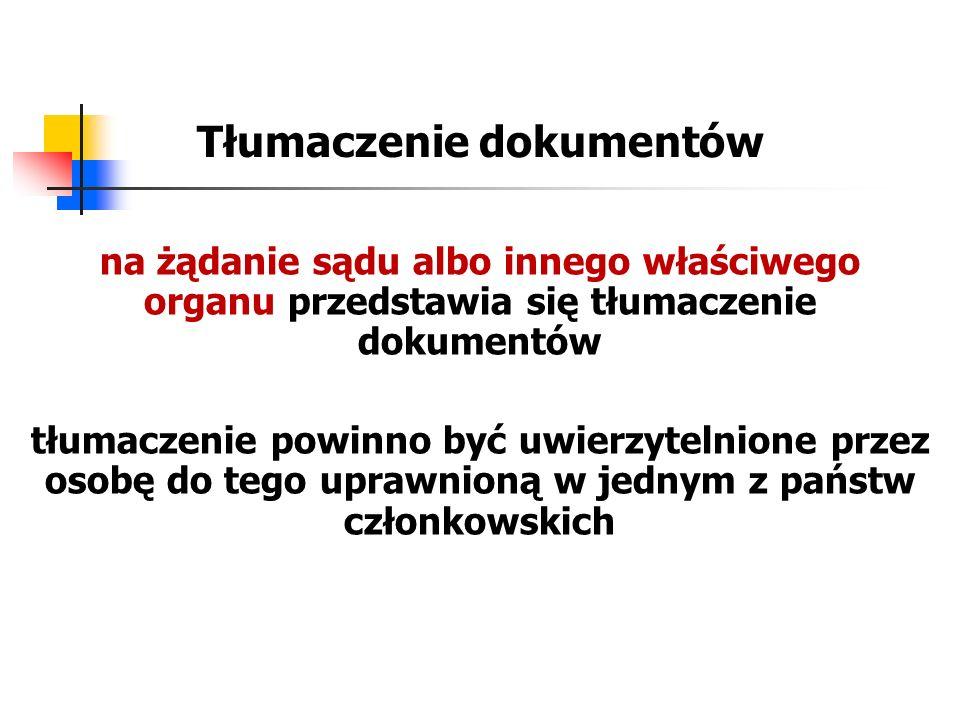 Tłumaczenie dokumentów na żądanie sądu albo innego właściwego organu przedstawia się tłumaczenie dokumentów tłumaczenie powinno być uwierzytelnione pr