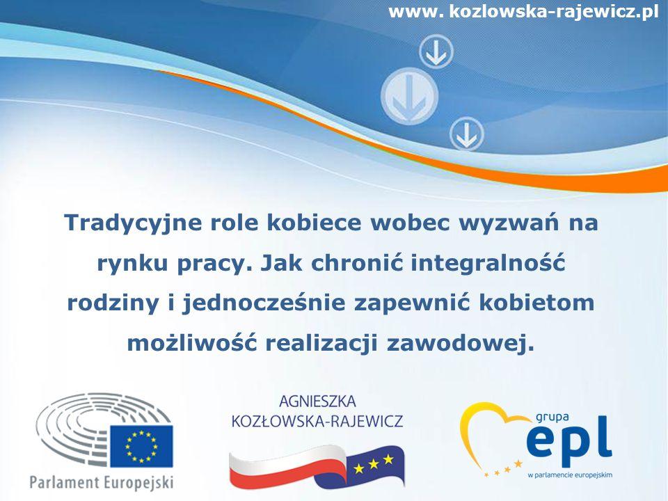 www. kozlowska-rajewicz.pl Tradycyjne role kobiece wobec wyzwań na rynku pracy.