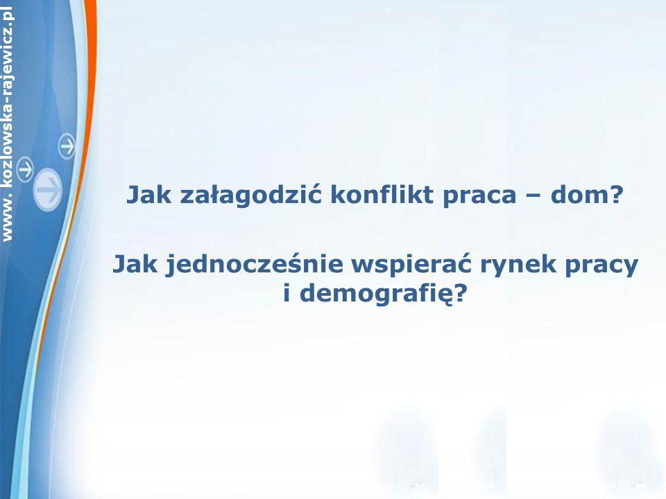 www. kozlowska-rajewicz.pl Jak załagodzić konflikt praca – dom.