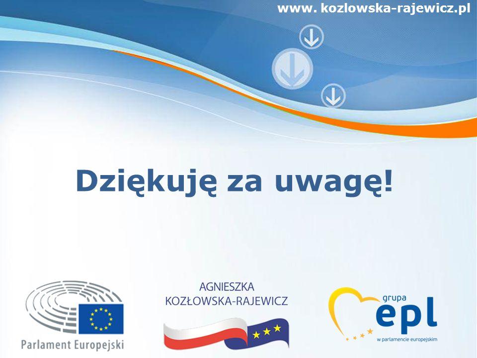 www. kozlowska-rajewicz.pl Dziękuję za uwagę!