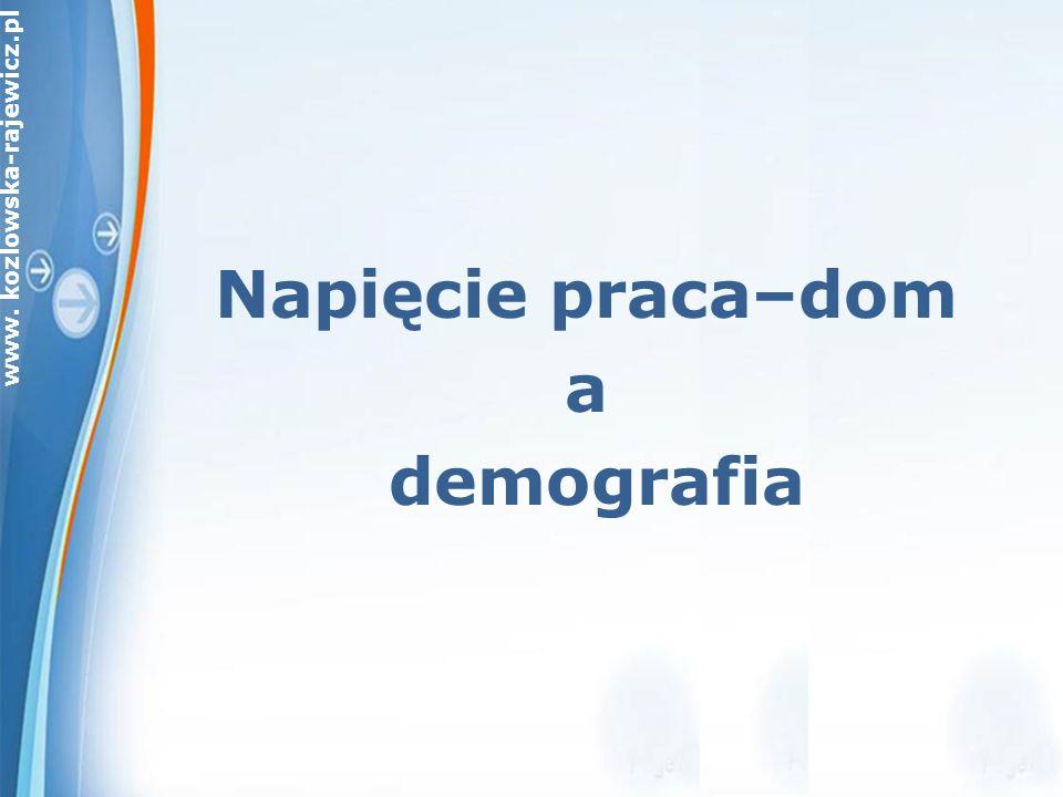 www. kozlowska-rajewicz.pl Napięcie praca–dom a demografia