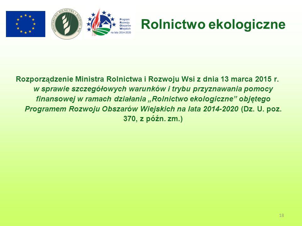 Rozporządzenie Ministra Rolnictwa i Rozwoju Wsi z dnia 13 marca 2015 r.
