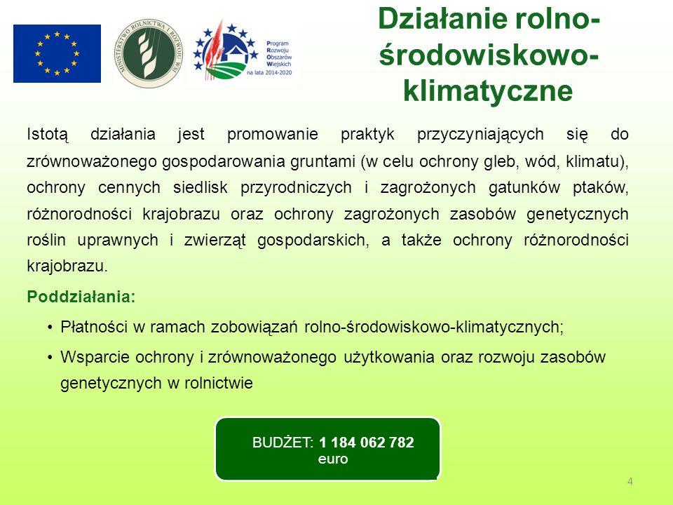 4 Istotą działania jest promowanie praktyk przyczyniających się do zrównoważonego gospodarowania gruntami (w celu ochrony gleb, wód, klimatu), ochrony cennych siedlisk przyrodniczych i zagrożonych gatunków ptaków, różnorodności krajobrazu oraz ochrony zagrożonych zasobów genetycznych roślin uprawnych i zwierząt gospodarskich, a także ochrony różnorodności krajobrazu.