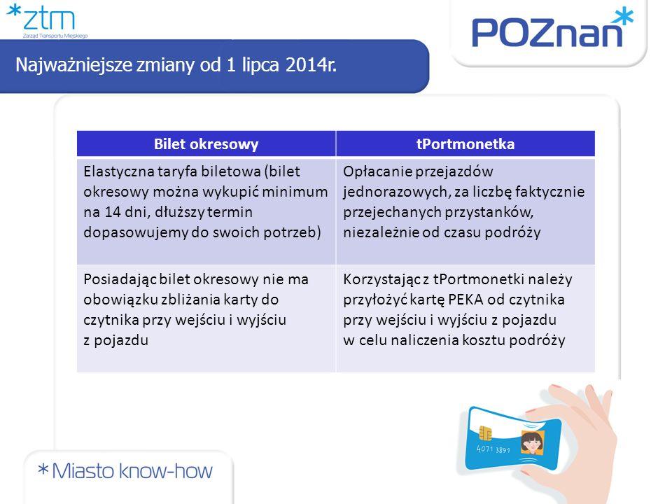 Bilety jednorazowe – wysokość opłat 13 Bilety można kupić w: automatach biletowych w pojazdach, biletomatach stacjonarnych, za pośrednictwem telefonu komórkowego, u kierowcy na liniach podmiejskich we wszystkich punktach sieci sprzedaży biletów ZTM Poznań.