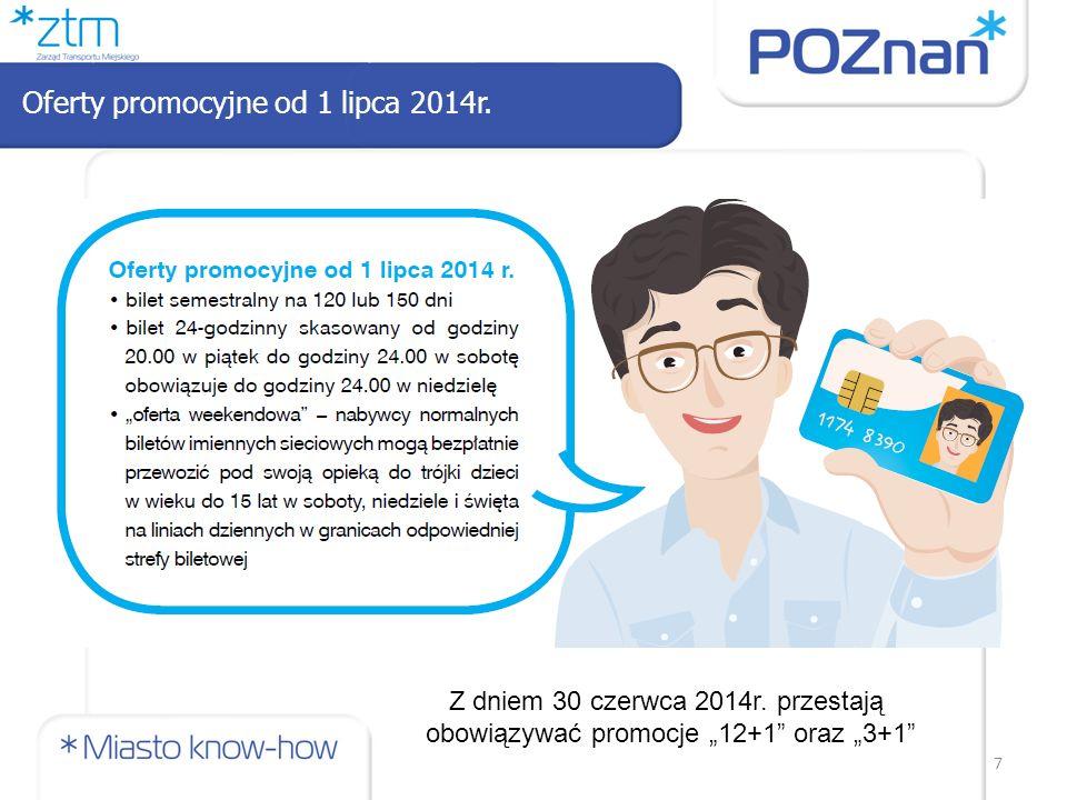 """7 Oferty promocyjne od 1 lipca 2014r. Z dniem 30 czerwca 2014r. przestają obowiązywać promocje """"12+1"""" oraz """"3+1"""""""
