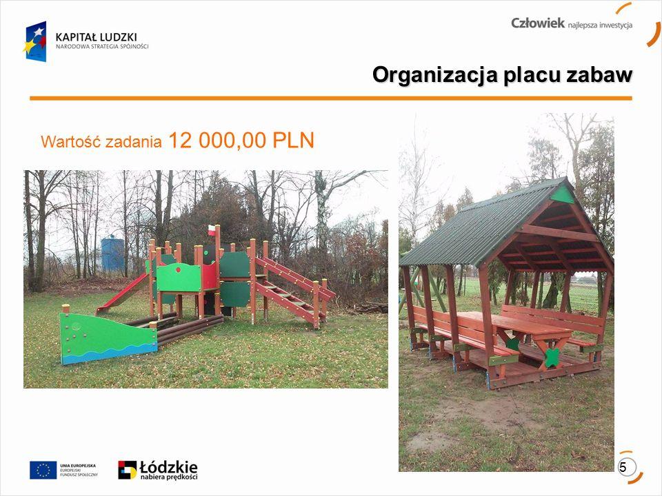 5 Organizacja placu zabaw. Wartość zadania 12 000,00 PLN