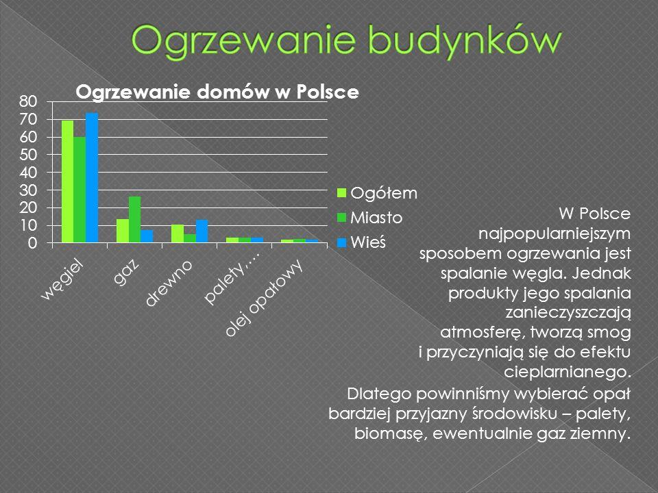 W Polsce najpopularniejszym sposobem ogrzewania jest spalanie węgla. Jednak produkty jego spalania zanieczyszczają atmosferę, tworzą smog i przyczynia