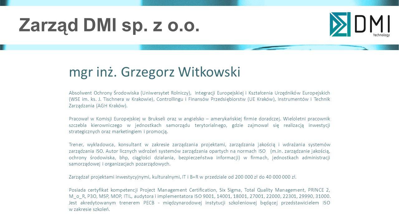 Zarząd DMI sp. z o.o. mgr inż.
