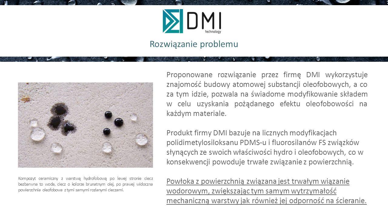 Nasz produkt Metoda nanoszenia powłoki na dowolną powierzchnie jest indywidualnie dobierania i opracowywana, co maksymalizuje efekt powstania trwałego wiązania wodorowego, nie tak jak ma to miejsce w przypadku komercyjne dostępnych hydrofobowych powłok impregnacyjnych gdzie głównym rodzajem oddziaływania jest działanie sił adhezji Zastosowanie powłok hydrofobowych i oleofobowych: powierzchnie samoczyszczące, a co za tym idzie bardziej higieniczne; antyszronowe antykorozyjne; przeciwmgielne; antyadhezyjne; typu antifinger printin g.