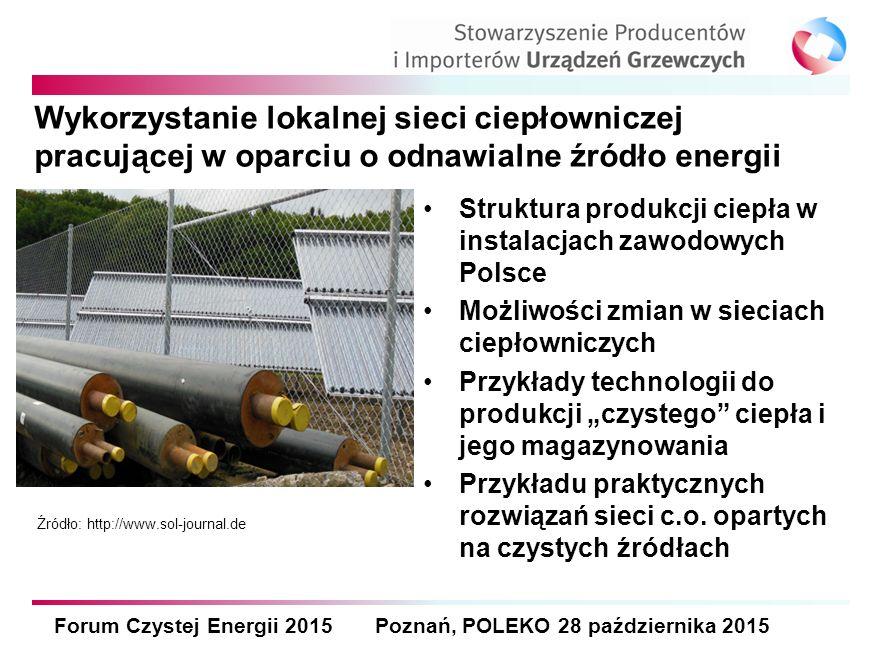 """Struktura produkcji ciepła w instalacjach zawodowych Polsce Możliwości zmian w sieciach ciepłowniczych Przykłady technologii do produkcji """"czystego"""" c"""