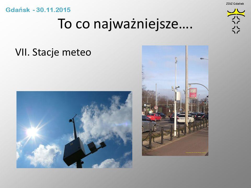To co najważniejsze…. VII. Stacje meteo ZDiZ Gdańsk Gda ń sk - 30.11.2015