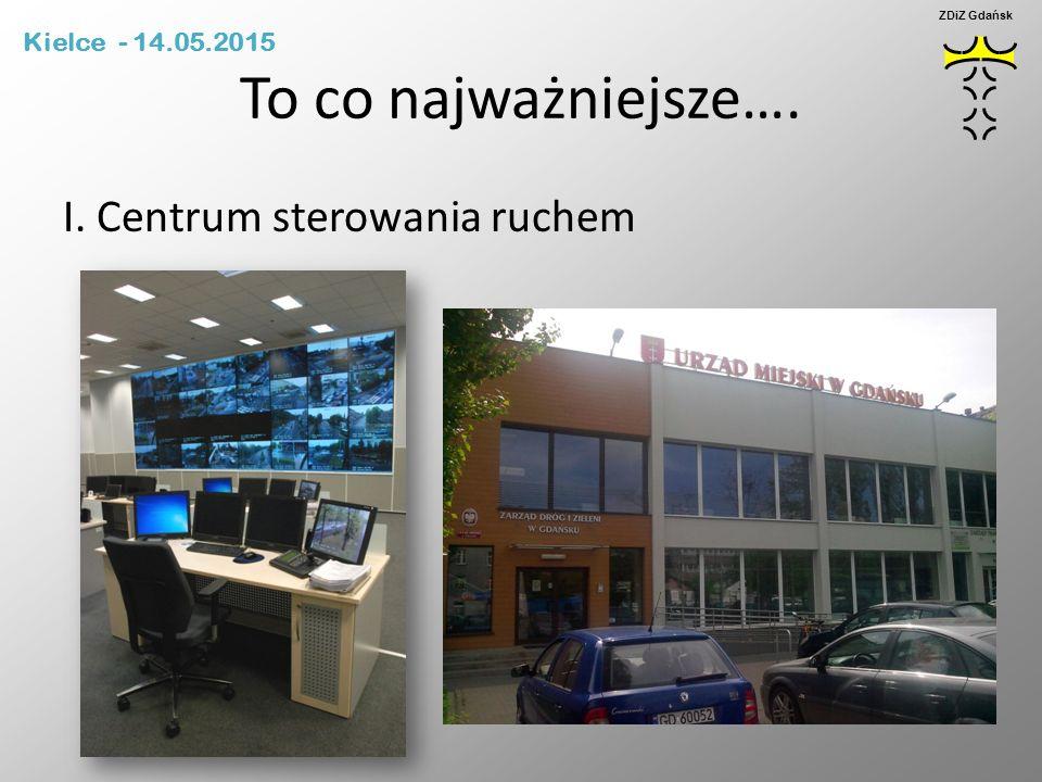 To co najważniejsze…. I. Centrum sterowania ruchem Kielce - 14.05.2015 ZDiZ Gdańsk