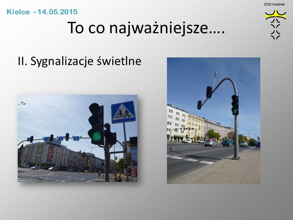 To co najważniejsze…. II. Sygnalizacje świetlne Kielce - 14.05.2015 ZDiZ Gdańsk