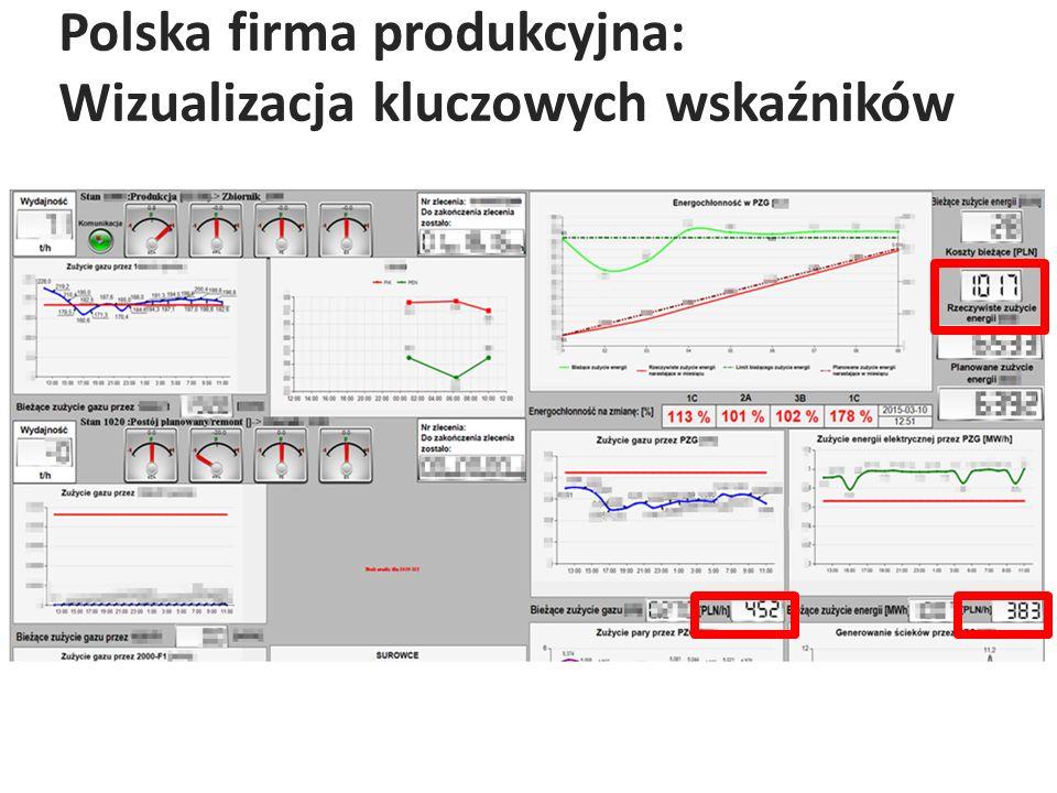 Polska firma produkcyjna: Wizualizacja kluczowych wskaźników