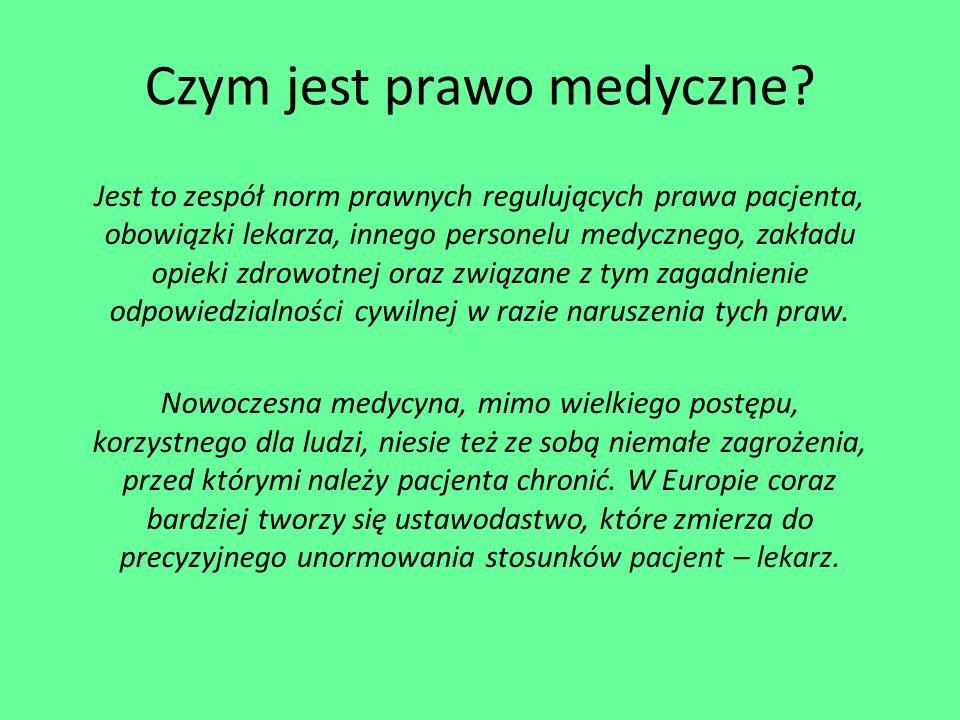 Czym jest prawo medyczne.