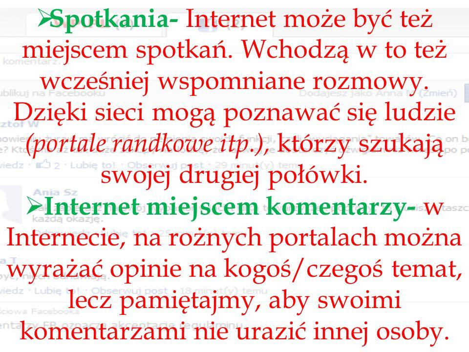 Zachowanie i komunikacja w Internecie różni się od komunikacji w sytuacji twarzą w twarz.