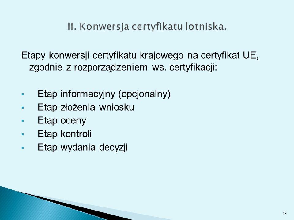 Etapy konwersji certyfikatu krajowego na certyfikat UE, zgodnie z rozporządzeniem ws.