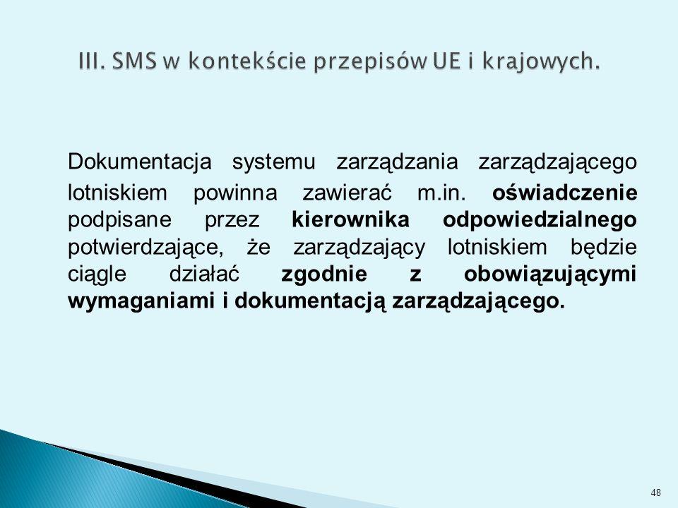 Dokumentacja systemu zarządzania zarządzającego lotniskiem powinna zawierać m.in.