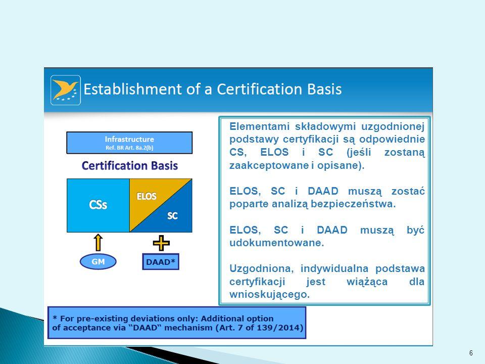 6 Elementami składowymi uzgodnionej podstawy certyfikacji są odpowiednie CS, ELOS i SC (jeśli zostaną zaakceptowane i opisane).