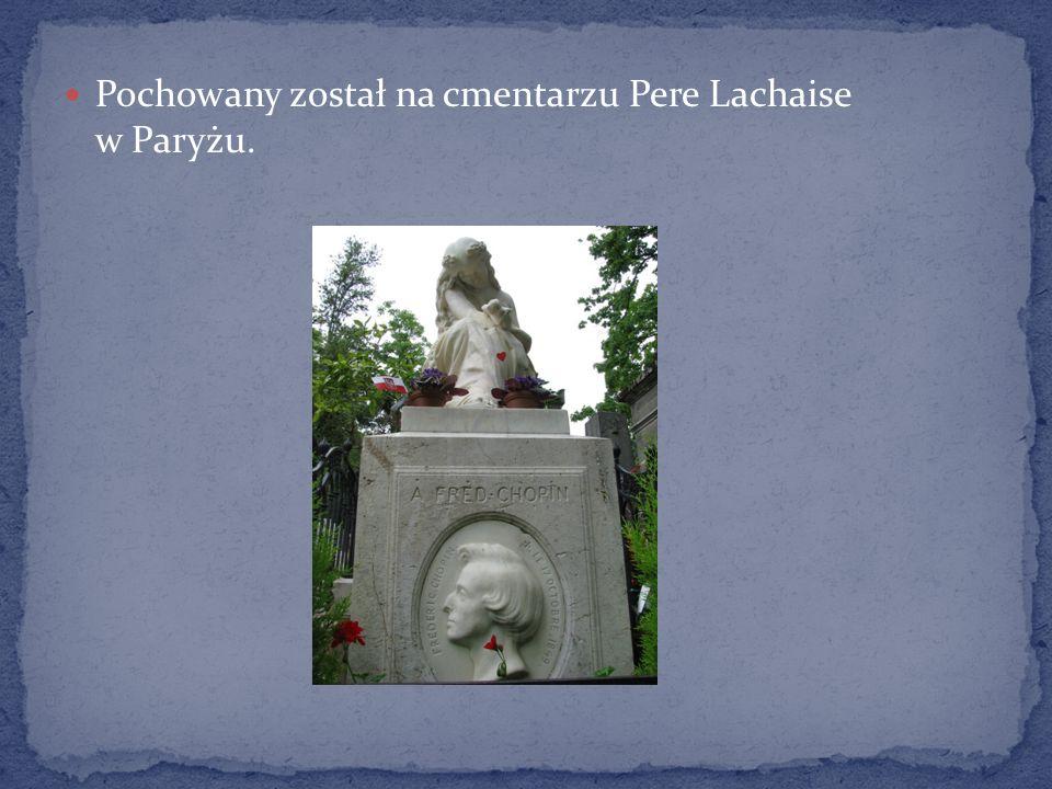 Pochowany został na cmentarzu Pere Lachaise w Paryżu.