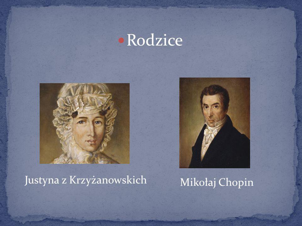 Rodzice Justyna z Krzyżanowskich Mikołaj Chopin