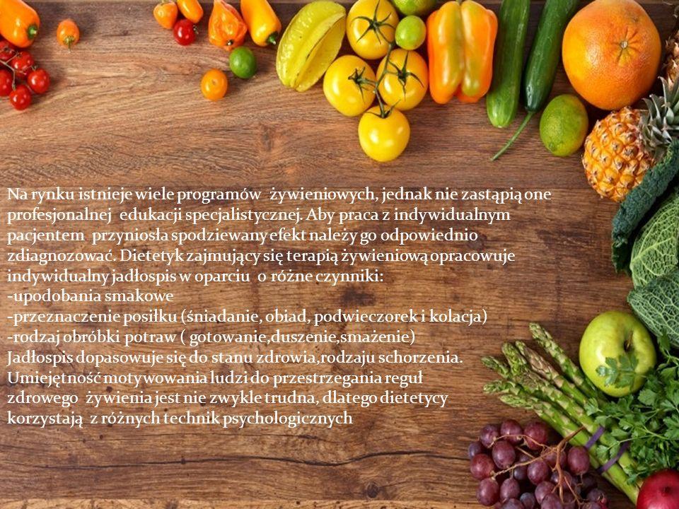 Na rynku istnieje wiele programów żywieniowych, jednak nie zastąpią one profesjonalnej edukacji specjalistycznej.
