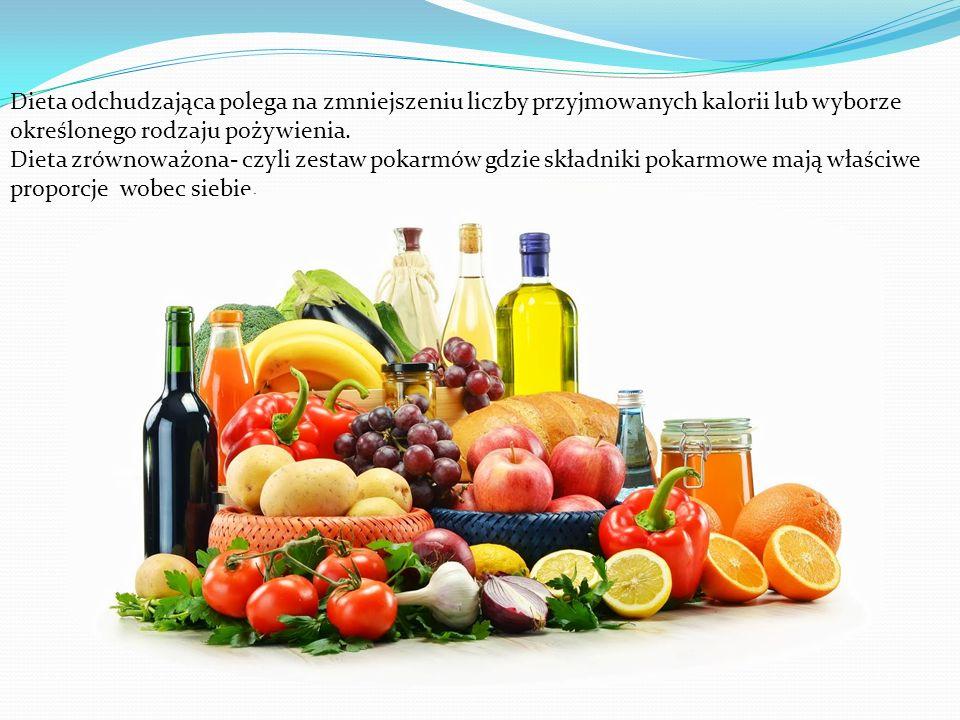 Dieta odchudzająca polega na zmniejszeniu liczby przyjmowanych kalorii lub wyborze określonego rodzaju pożywienia.