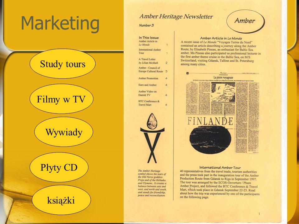 Marketing Filmy w TV Wywiady Study tours Płyty CD książki