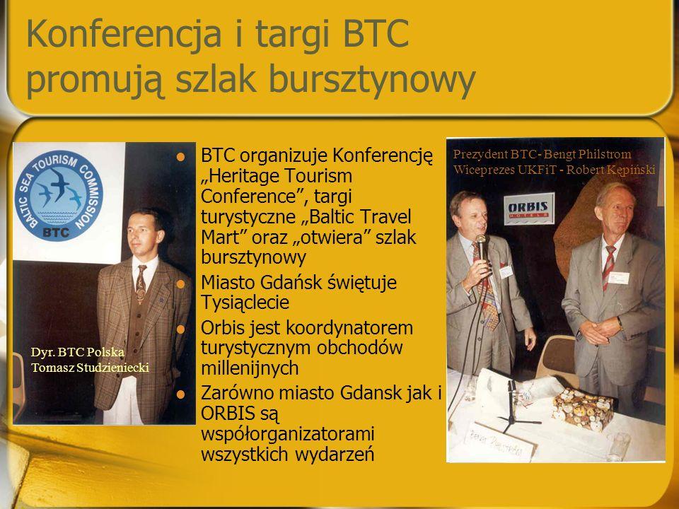 """Konferencja i targi BTC promują szlak bursztynowy BTC organizuje Konferencję """"Heritage Tourism Conference"""", targi turystyczne """"Baltic Travel Mart"""" ora"""