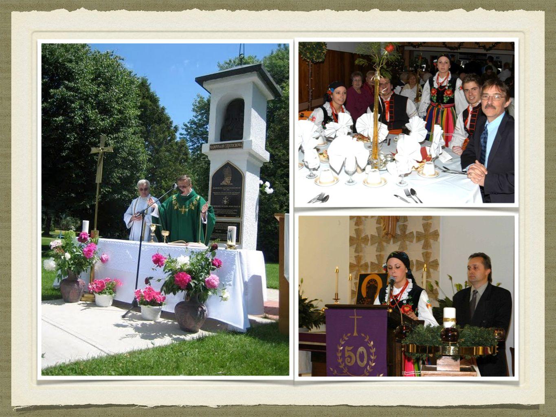 HISTORIA Jubileusz 50–lecia, który obchodzimy w roku obecnym zbiegł się ze smutnym a zarazem radosnym wydarzeniem odejścia Jana Pawła II do domu Ojca.